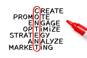 Content Crossword Marker Concept