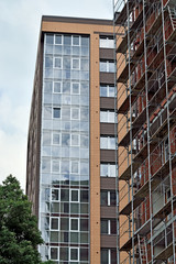 New building with the scaffolding