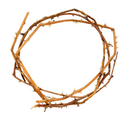 Crown of thorns, isolated on white