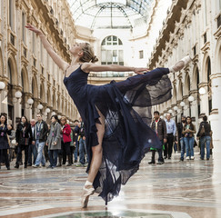Gorgeous classical dancer performing in Milan