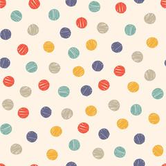 polka dot doodle seamless pattern