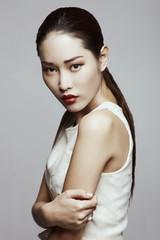 Asian beauty in studio b
