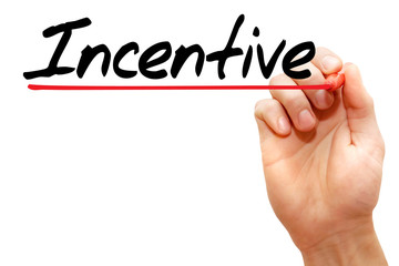 Hand writing Incentive with marker, business concept