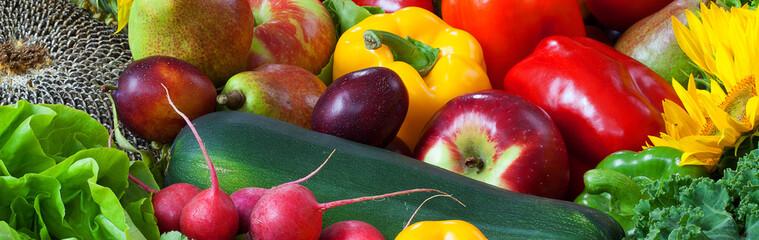 Owoce i warzywa wymieszane razem