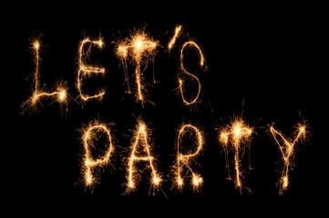 let's party sparkler