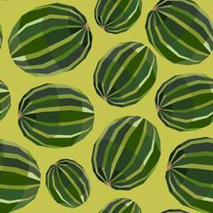 Seamless vintage polygon watermelon pattern