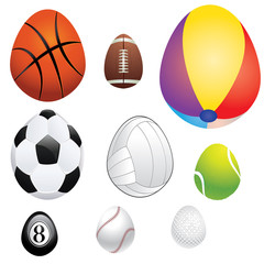 Egg Shaped Sport Balls