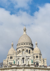 The Basilica of the Sacred Heart in Montmartre-Paris