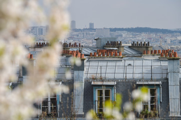 France, Paris, the city view from the heights of Montmartre