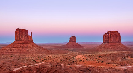 Monument Valley at sunset, Utah National Park, USA.