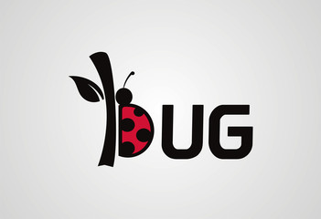 Bug logo vector