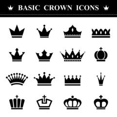 Basic Crown icons set