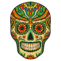 Print mexican traditional scull
