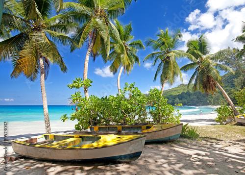 Anse Takamaka Beach, Mahe Island, Seychelles скачать