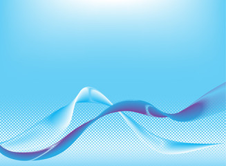 Abstract wave background. Vector.