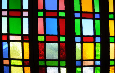 Fragment of Stained Glass Window