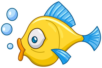 Fish with bubbles