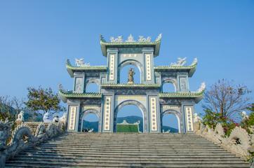 Gate at Linh Ung Pagoda in Da Nang, Vietnam