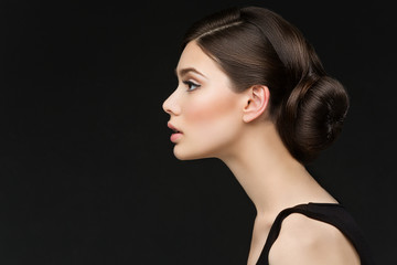 Girl with long neck