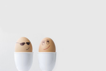 Cool dude egg in love!