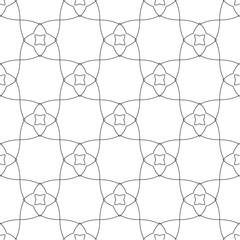 Symmetrical geometric shapes black and white floral vector