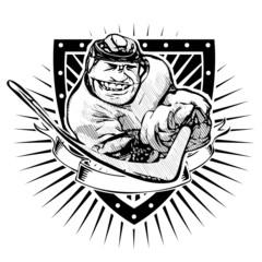 funny ice hockey shield