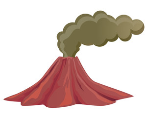 Volcano with smoke vector image