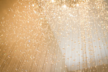 sparkling crystal decorated background