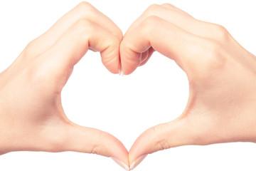 human hand heart