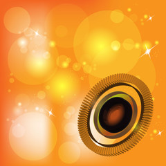 Abstract vector background orange circle technology