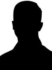Black silhouette man head account