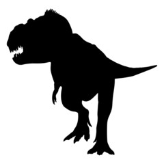 Black silhouette of a large dinosaur