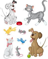 fröhliche Haustiere Set Sammlung Kollektion