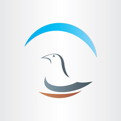 dove freedom symbol abstract design