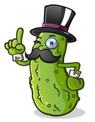 Pickle Gentleman Cartoon Character