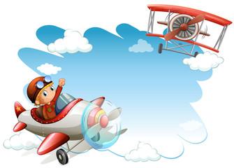 Flying jets frame