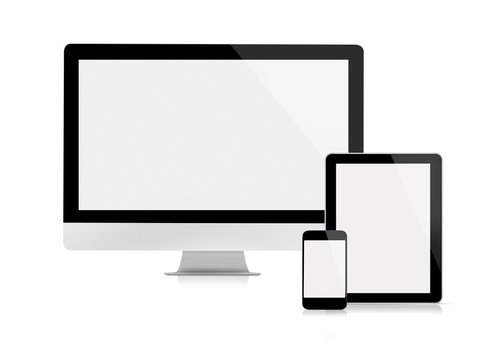 Computer monitor, tablet and mobile phone