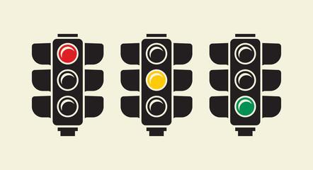 Traffic light vector sign Fotomurales