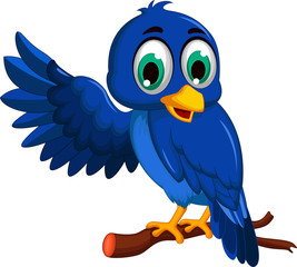 A blue bird cartoon character