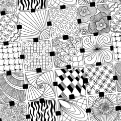 vector doodles pattern zentangle