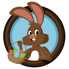 Easter bunny in circle