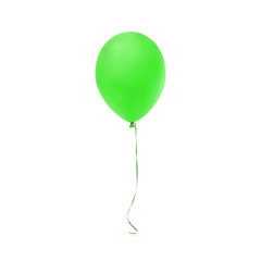 Green balloon icon isolated on white background.