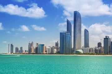 Cityscape of Abu Dhabi, capital of United Arab Emirates