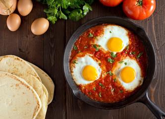 Keuken foto achterwand Gebakken Eieren Shakshuka