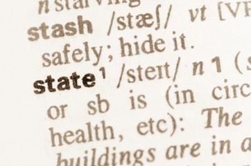 Dictionary definition of word state