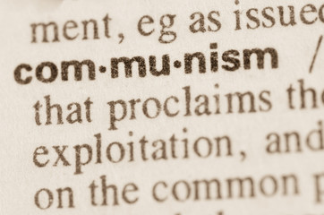 Dictionary definition of word communism