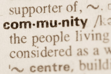 Dictionary definition of word community