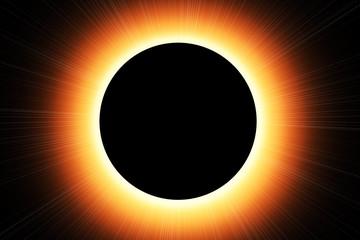 Fototapete - Sonnenfinsternis - Sun eclipse