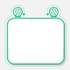 Text frame for your text and cloverleaf