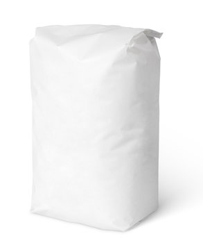 Blank paper bag package of salt isolated on white